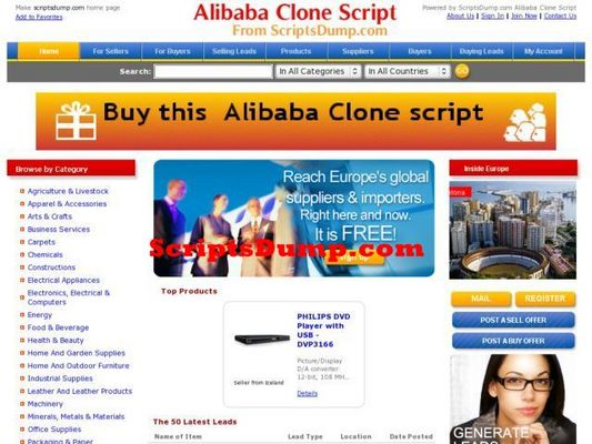 Product picture Alibaba Clone PhpScript b2b